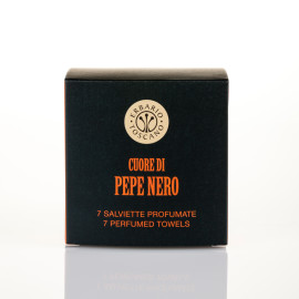 Set Salviette Profumate Cuore di Pepe Nero 7pz