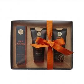 Set Cuore di Pepe Nero – Profumo, Crema da barba e Balsamo Dopobarba